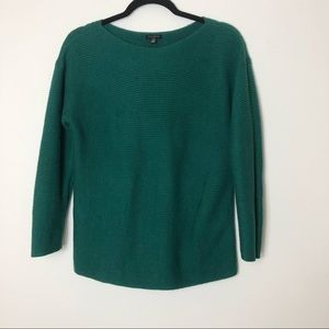 Talbots Green Boatneck Sweater